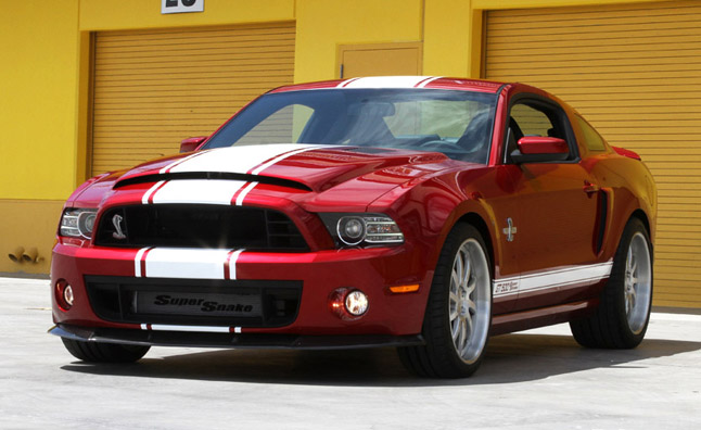2013 Shelby GT500 Super Snake red