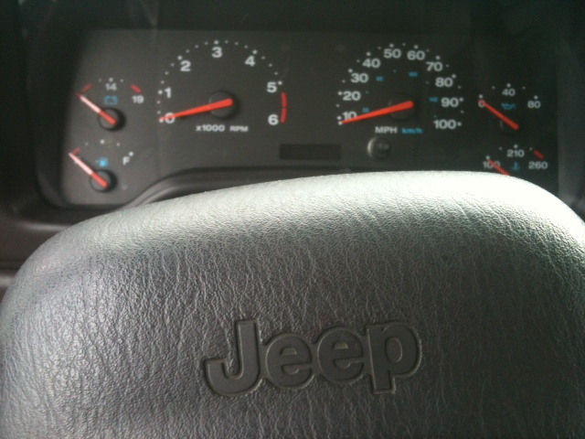 The dashboard of my 2001 Jeep Wrangler Sport