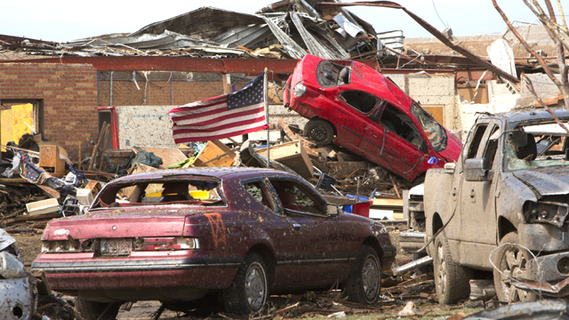 Tornado damage in Moore, Oklahoma/ REUTERS/Richard Rowe
