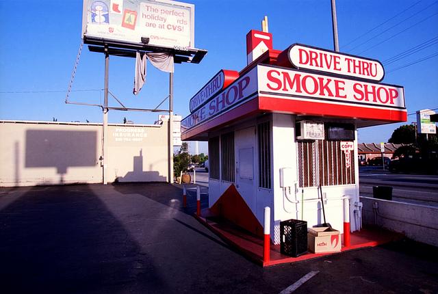 Barber Shop Erie Pa : Drive -Thru Smoke Shop , Hollywood, CA (Photo courtesy: Alex Wichman )