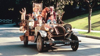 The Beverly Hillbillies and their jalopy.  Heck, it still ran!