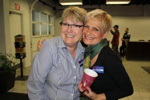 Butler owner, Linda Butler, and friend