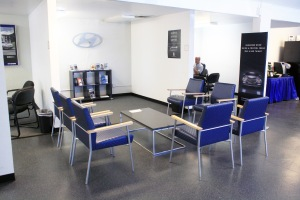 The new temporary customer lounge