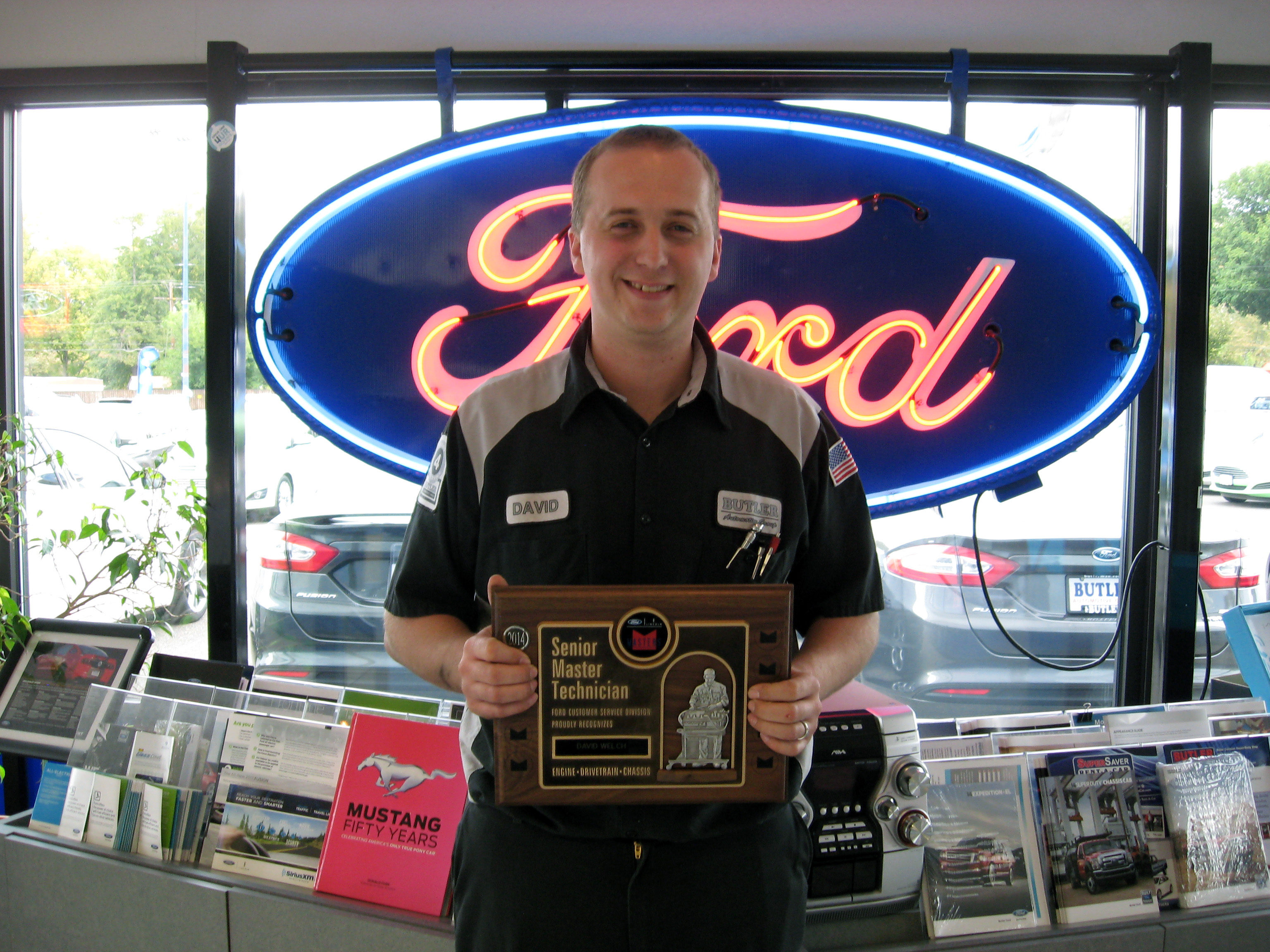 Butler s service centers crown a fourth master technician for Crown motors service center