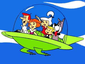 "The ""capsule car"" envisioned by The Jetsons TV show"
