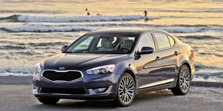 Can you tell the bumper's a slightly different color than the rest of this 2014 Kia Cadenza?  It is!